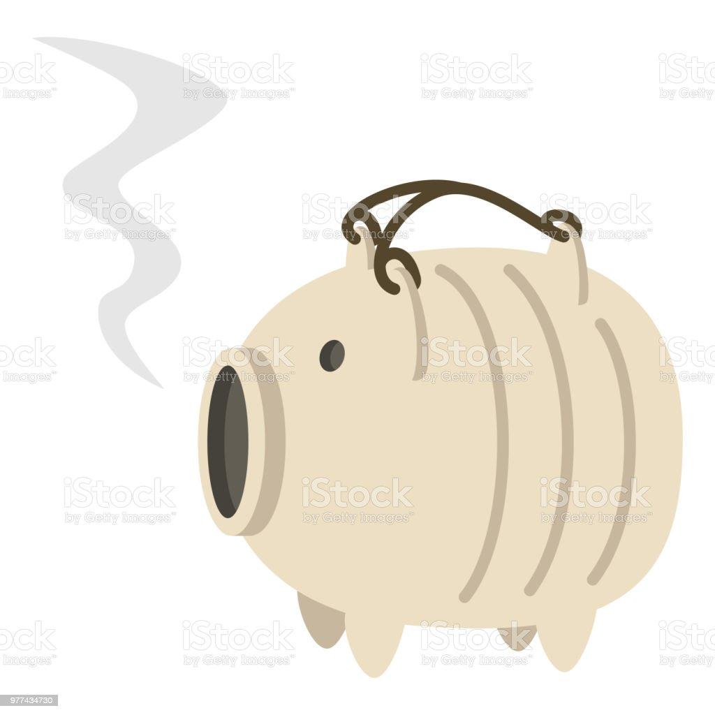 Schwein Keramik Moskito Spule Halter Stock Vektor Art und mehr ...