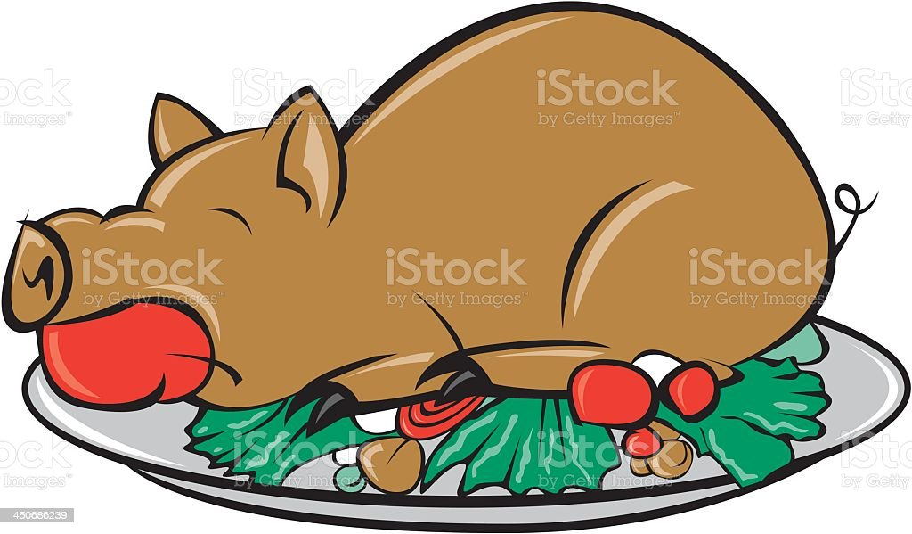 pig roast stock vector art more images of apple fruit rh istockphoto com Pig Clip Art pig roast clip art pictures