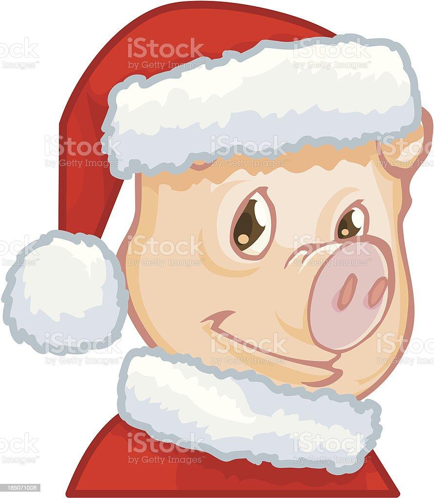 pig santa royalty-free stock vector art