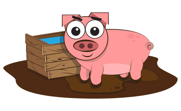 Pig vector art illustration