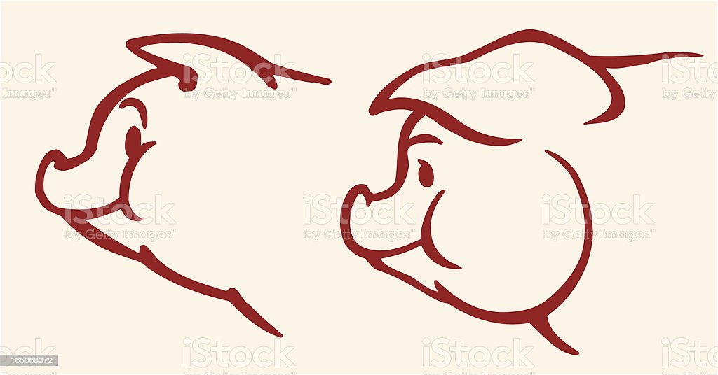 Pig royalty-free stock vector art