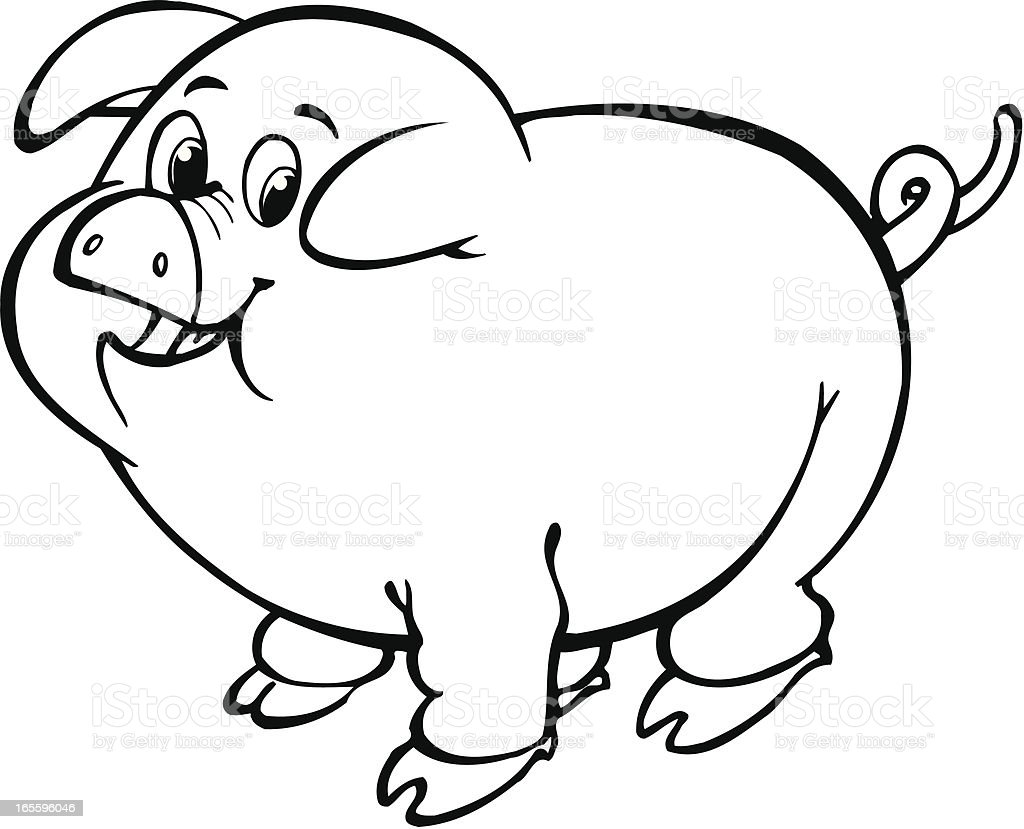 Pig royalty-free pig stock vector art & more images of animal