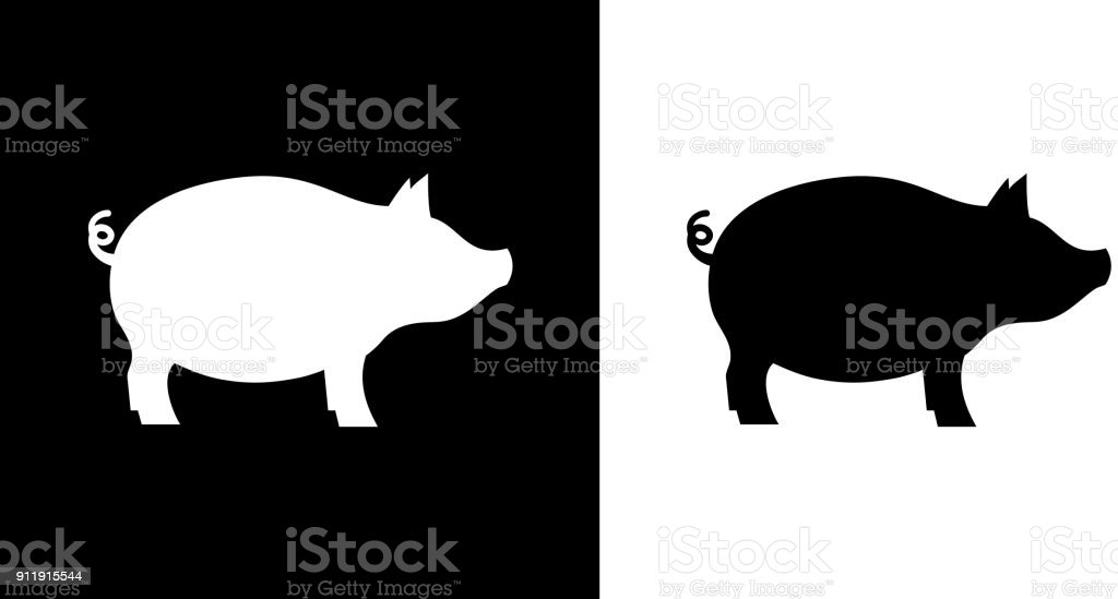 royalty free pig black background clip art vector images rh istockphoto com cute pig clipart black and white peppa pig clipart black and white