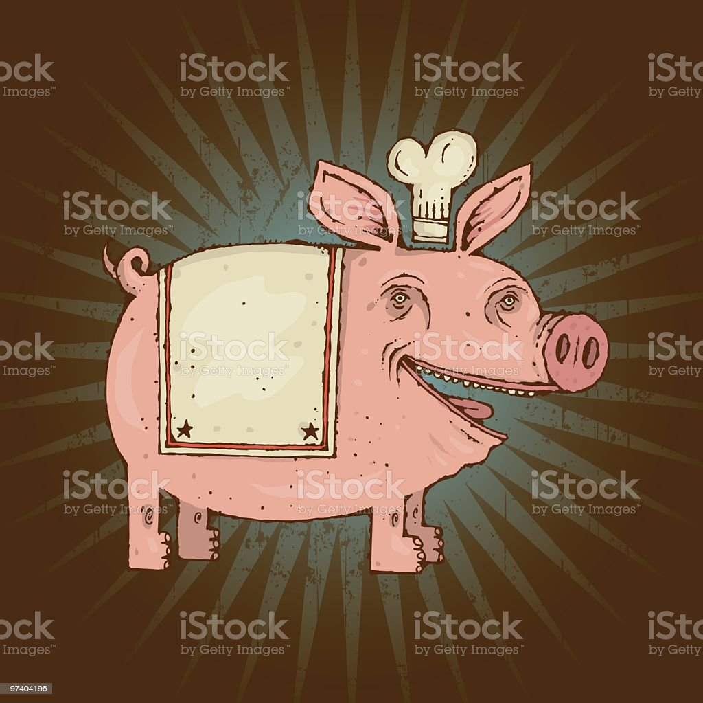 BBQ Pig royalty-free stock vector art