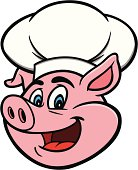 istock Pig with Chef Hat 188045534