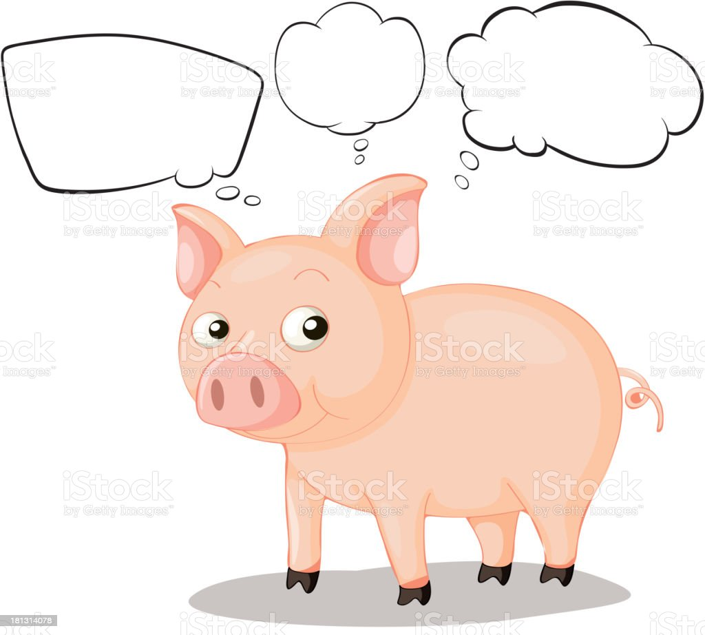 pig with empty callouts royalty-free pig with empty callouts stock vector art & more images of animal