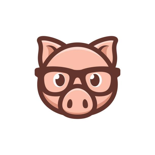 Royalty free pig ears clip art vector images illustrations istock pig with glasses icon vector art illustration maxwellsz