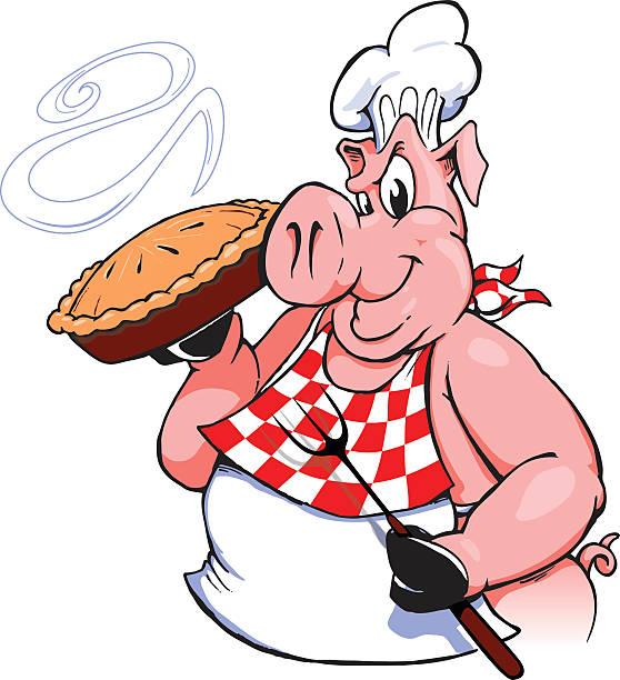Sformato di maiale con barbecue - illustrazione arte vettoriale