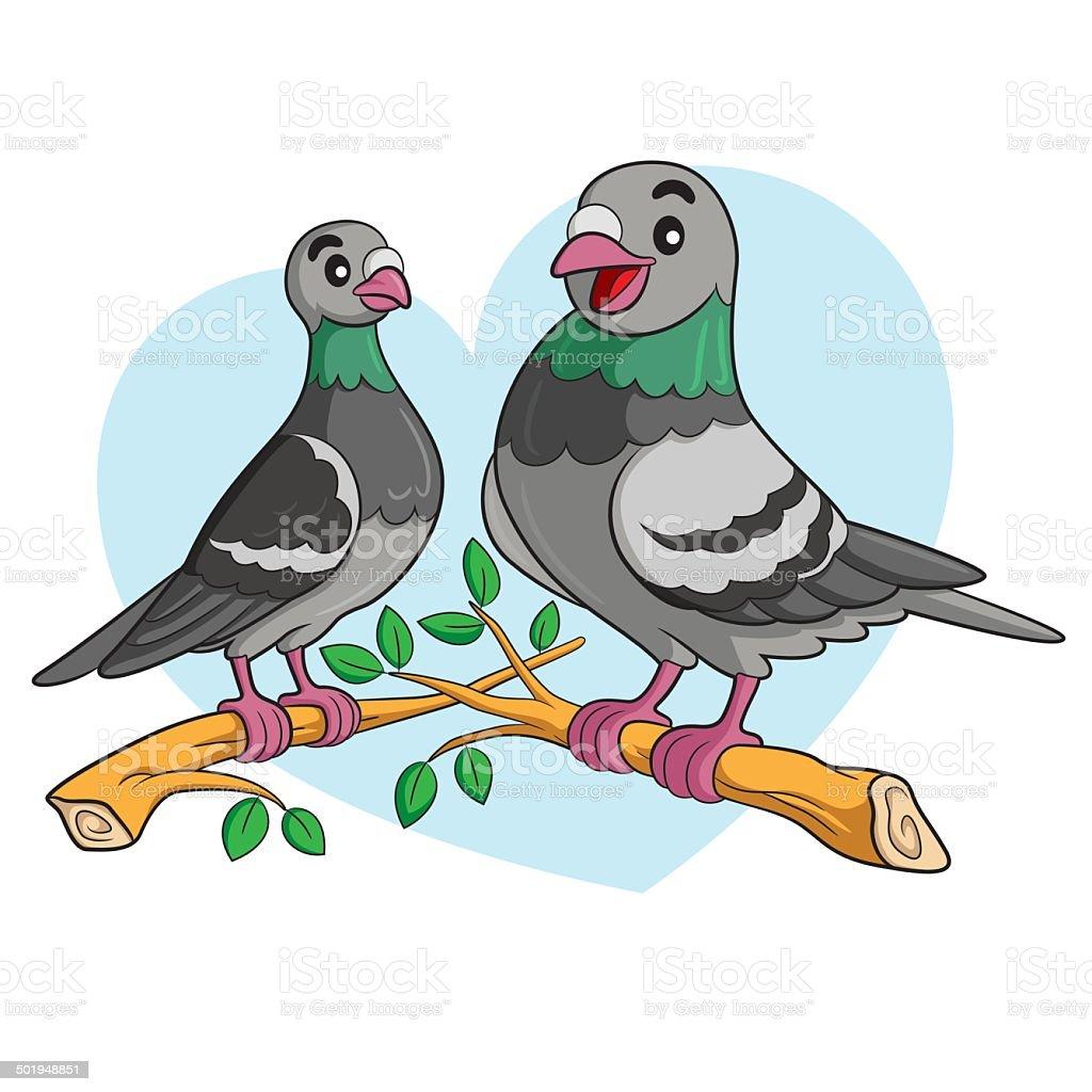 Pigeon dessin anim vecteurs libres de droits et plus d 39 images de amour istock - Dessin pigeon ...