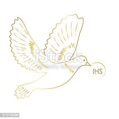 Pigeon First Holy Communion Symbol Stock Vector Art More Images Of