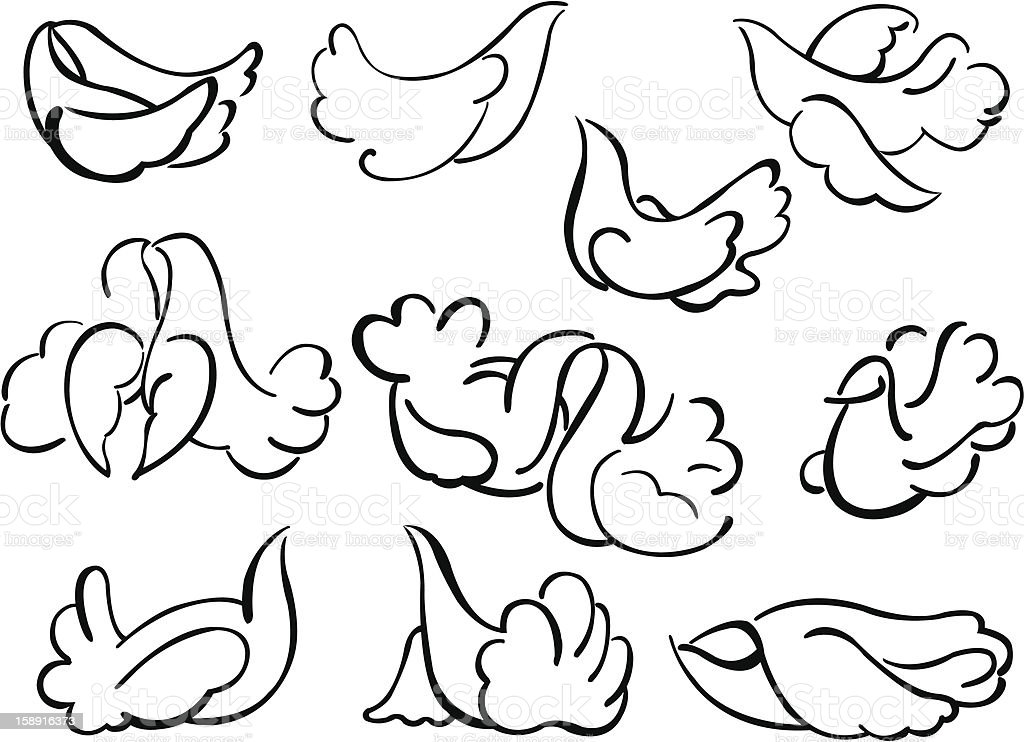Pigeons royalty-free stock vector art
