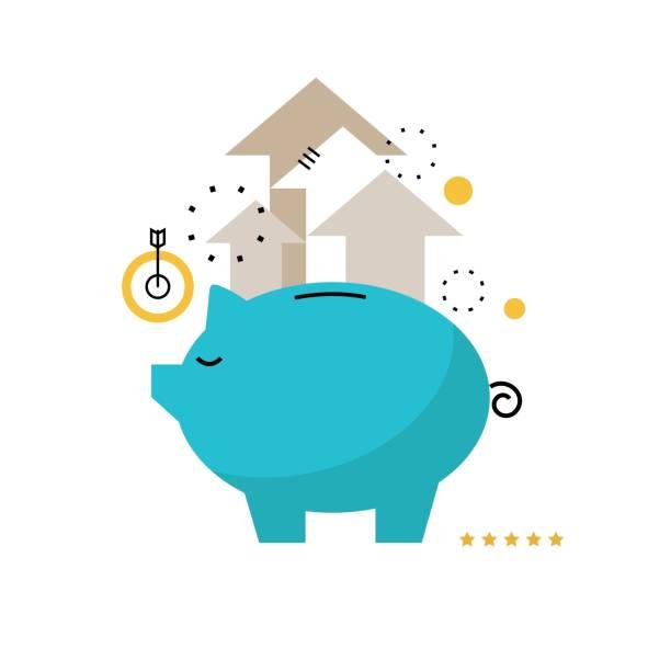 Piggy bank concept vector art illustration