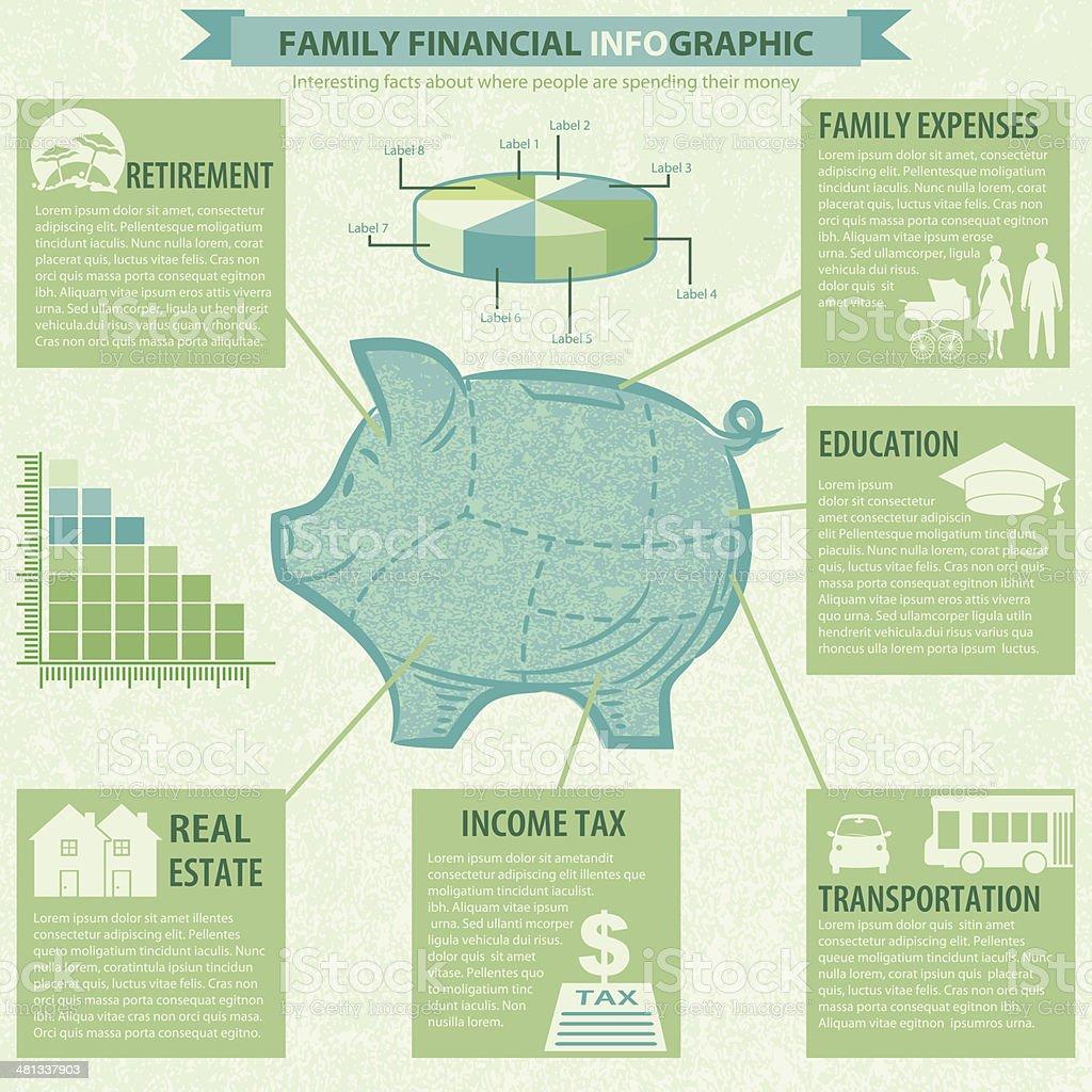 Ilustración de Alcancía Financiera Infografía Plantilla y más banco ...
