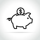 istock piggy bank icon on white background 930765408