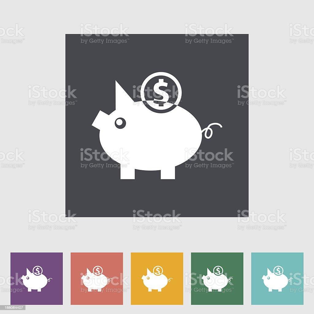 Piggy bank icon. vector art illustration