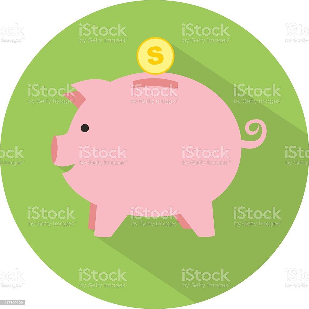 royalty free piggy bank clip art vector images illustrations istock rh istockphoto com piggy bank clipart images broken piggy bank clipart