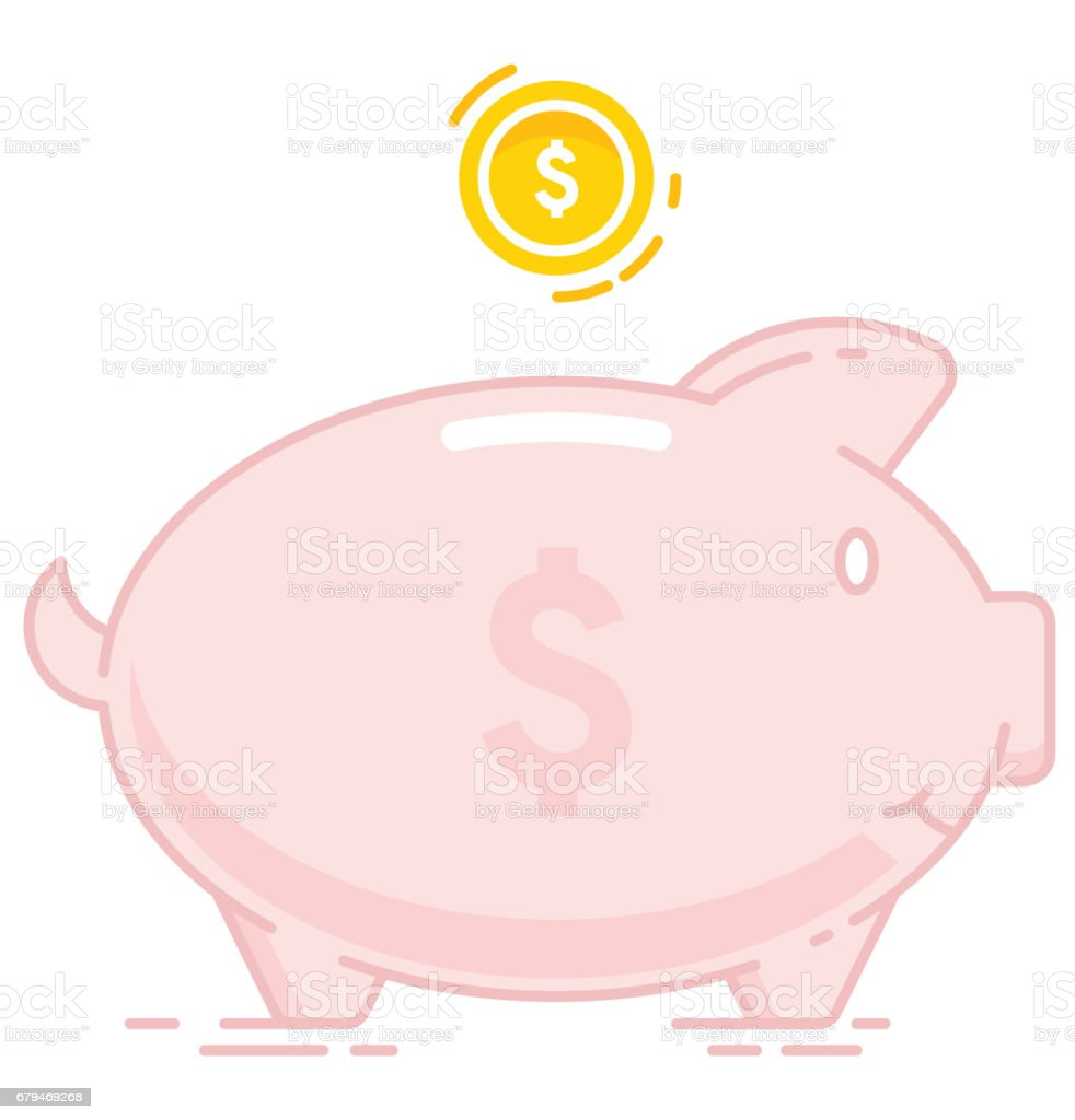 Piggy bank icon royalty-free piggy bank icon stock vector art & more images of animal