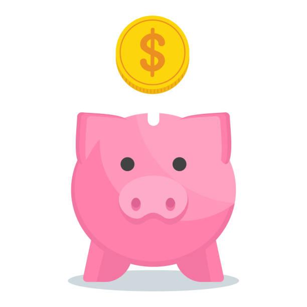 sparschwein-symbol - schließfachsachen stock-grafiken, -clipart, -cartoons und -symbole