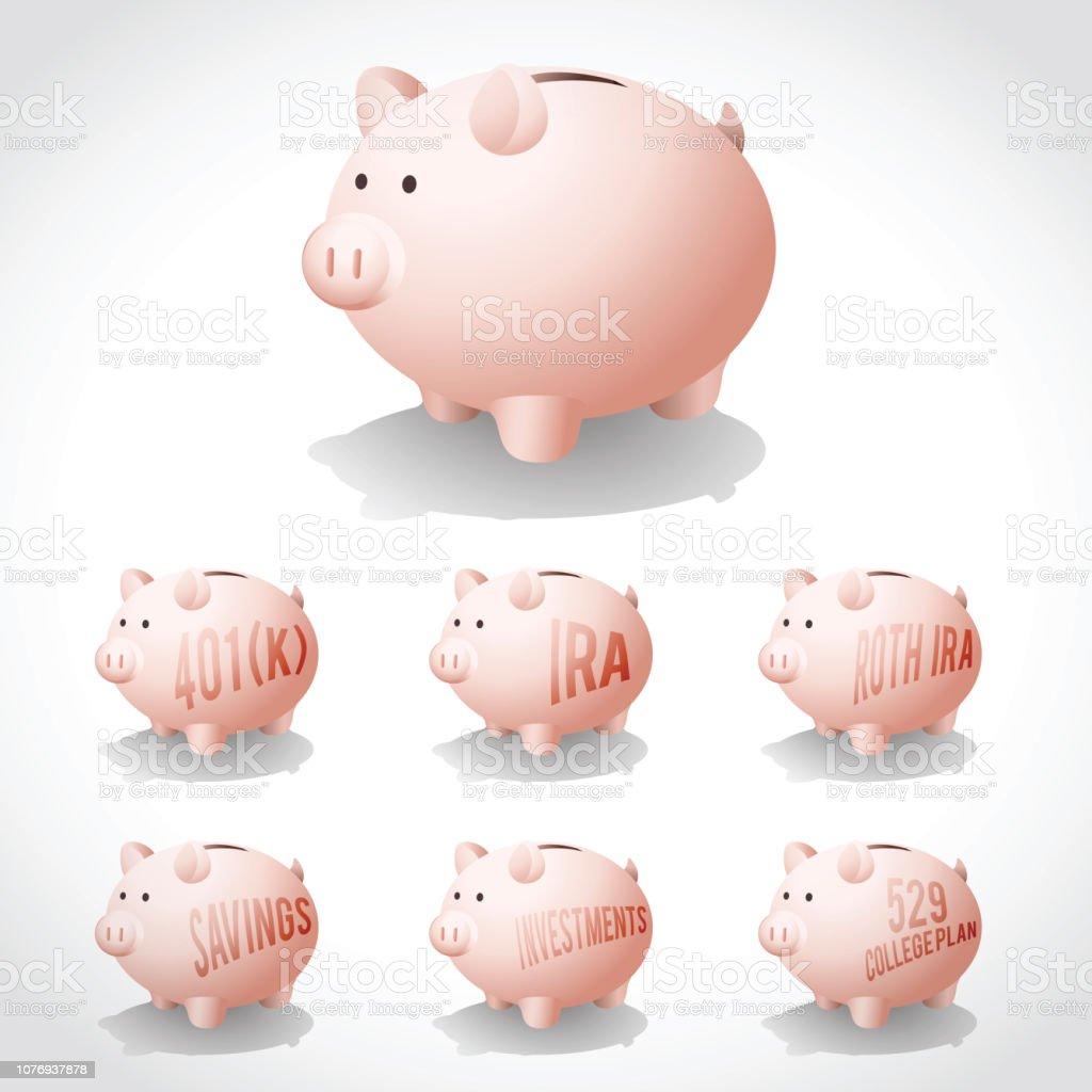 Piggy Bank illustration vector art illustration