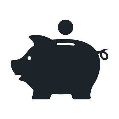 Piggy bank. Money box. Vector