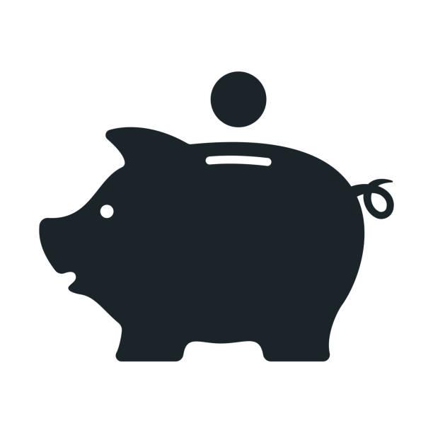 Piggy bank. Money box. Vector Piggy bank. Money box. Vector illustration budget silhouettes stock illustrations