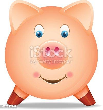 istock Piggy bank on white background 527797789