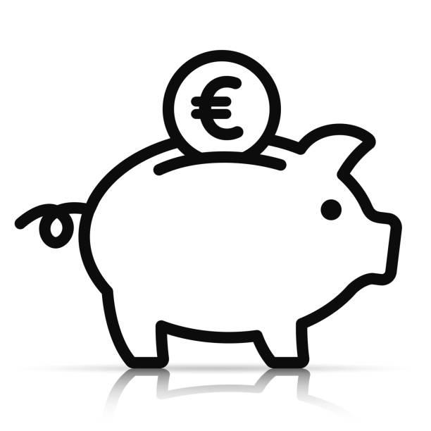 piggy bank on white background Illustration of piggy bank on white background piggy bank stock illustrations