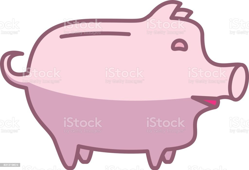Piggy Bank Or Money Box Stock Vector Art & More Images of Anatomy ...