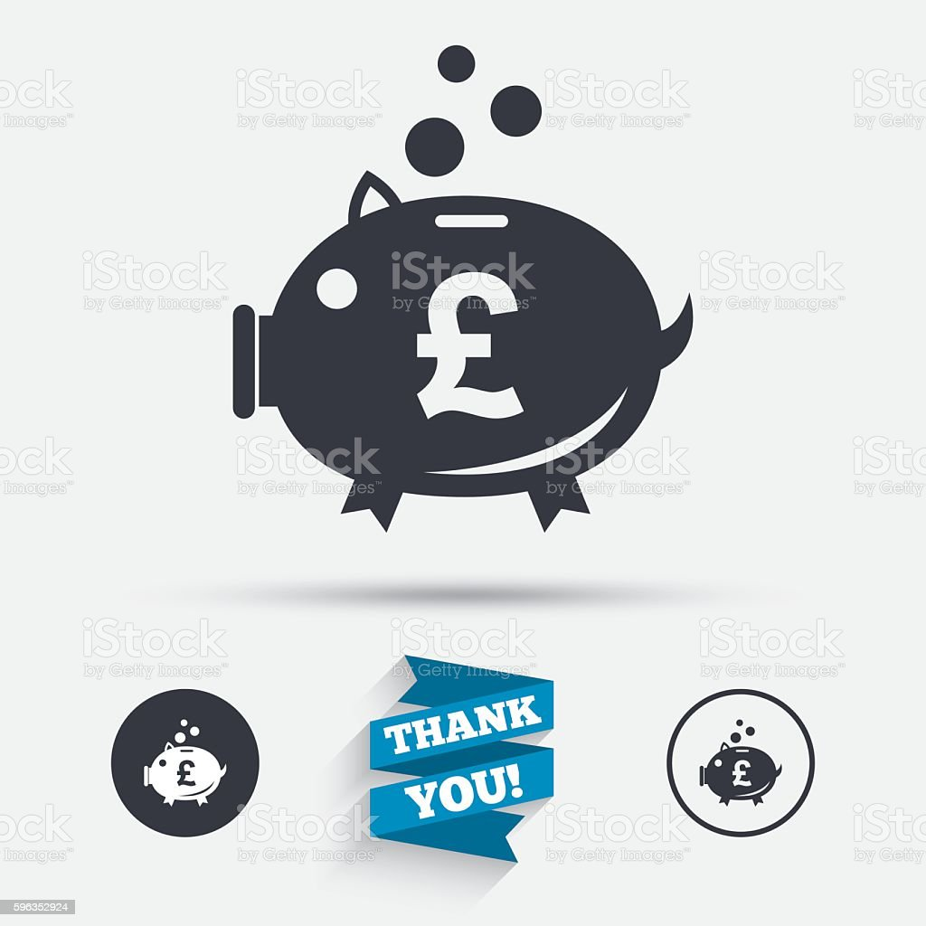 Piggy bank sign icon. Moneybox symbol. royalty-free piggy bank sign icon moneybox symbol stock vector art & more images of badge