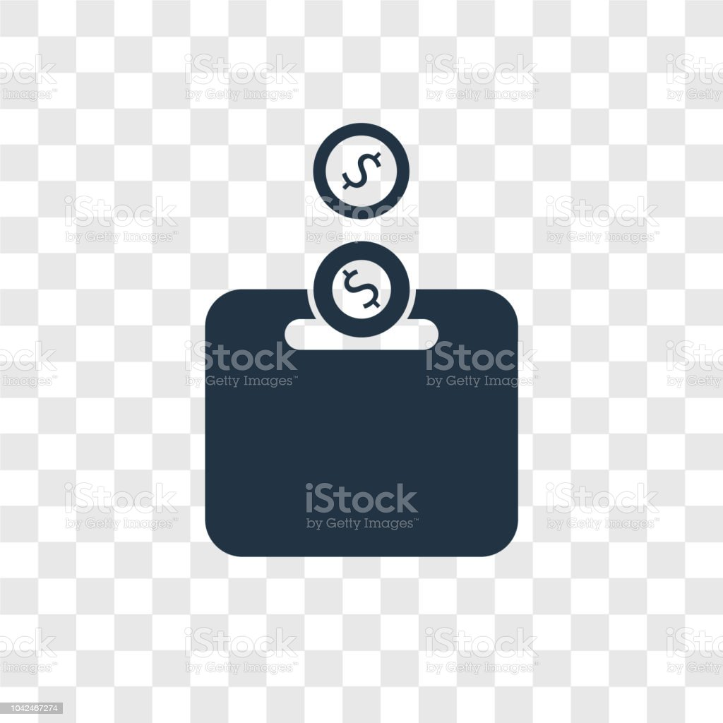Design On Stock Bank.Piggy Bank Vector Icon Isolated On Transparent Background