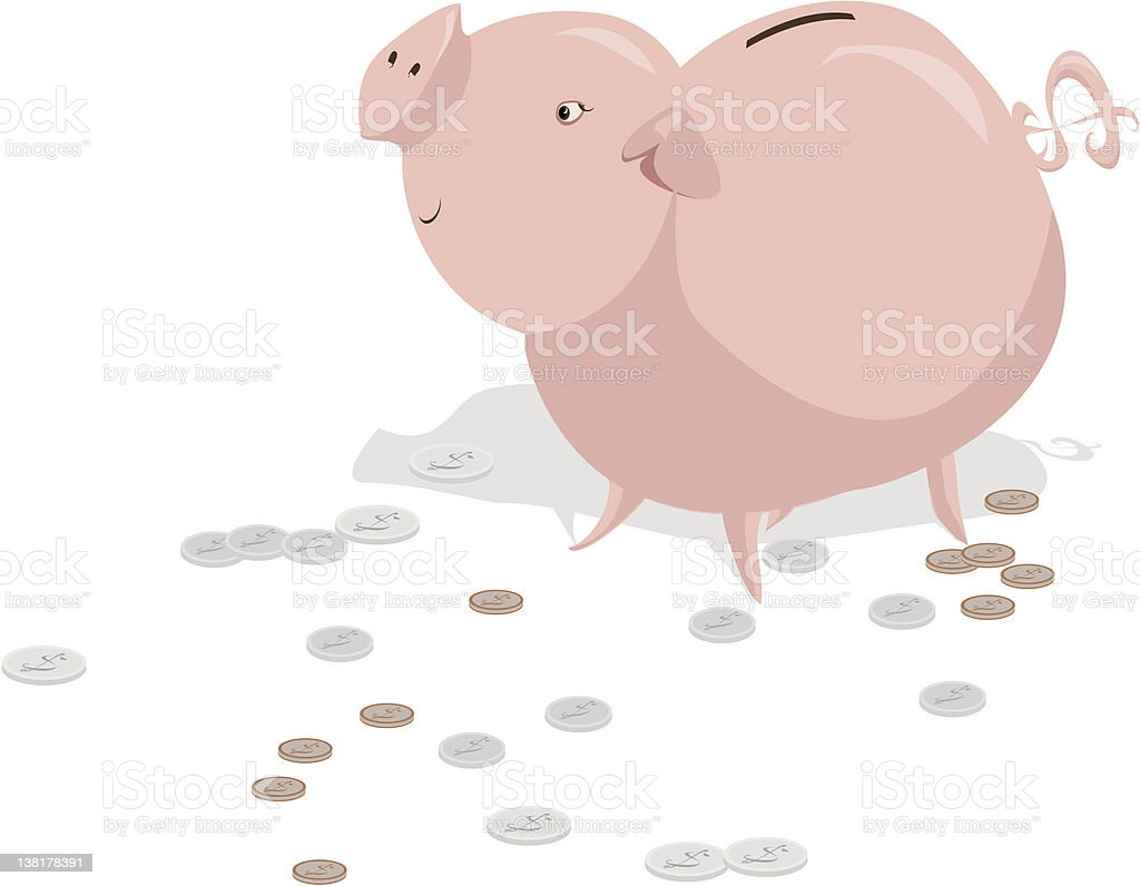Piggy Bank royalty-free piggy bank stock vector art & more images of coin