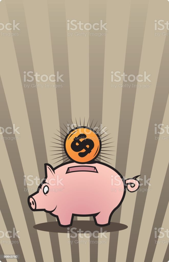 piggy bank royalty-free piggy bank stock vector art & more images of animal