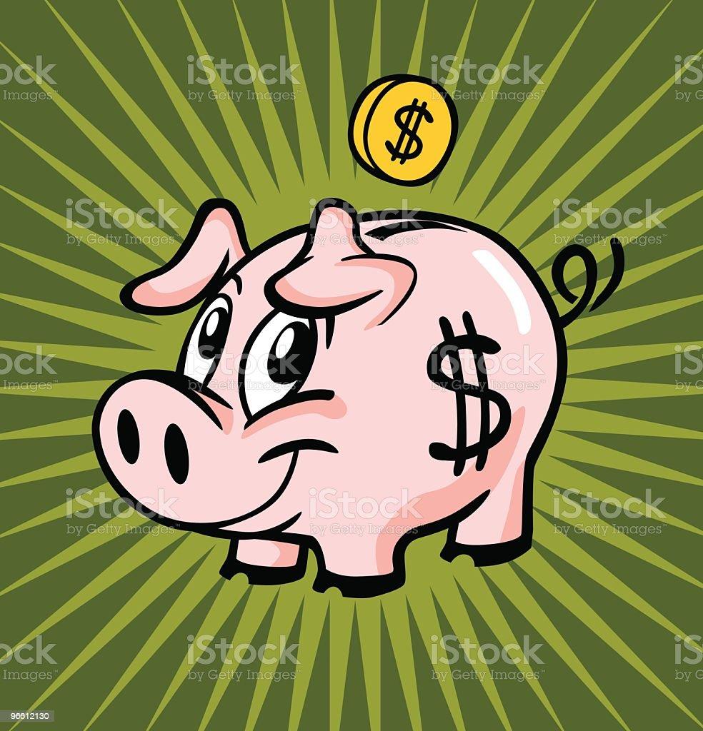 Piggy Bank - Royaltyfri Bankkonto vektorgrafik