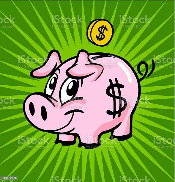 Piggy Bank-vektorgrafik och fler bilder på Bankkonto