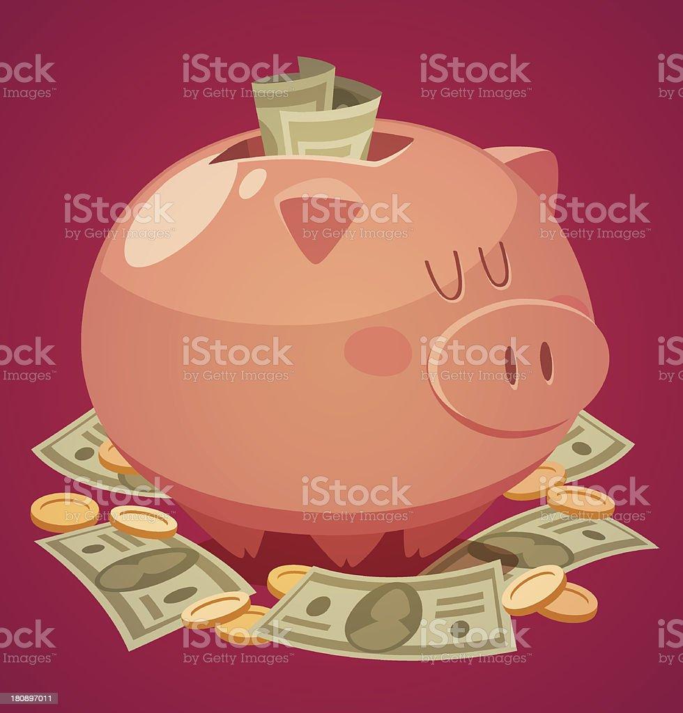 Piggy bank. Vector illustration. vector art illustration