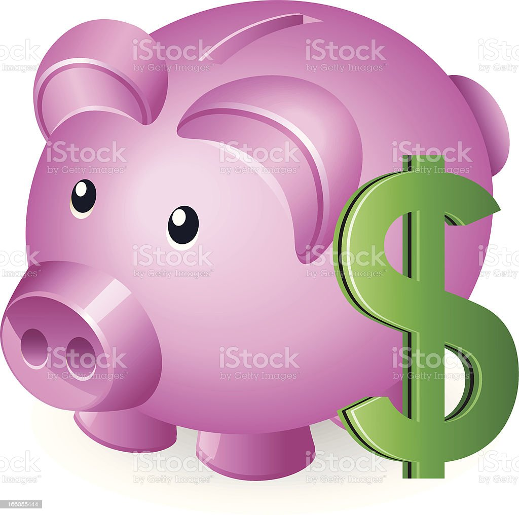 Piggy Bank with Dollar sign royalty-free piggy bank with dollar sign stock vector art & more images of bank account