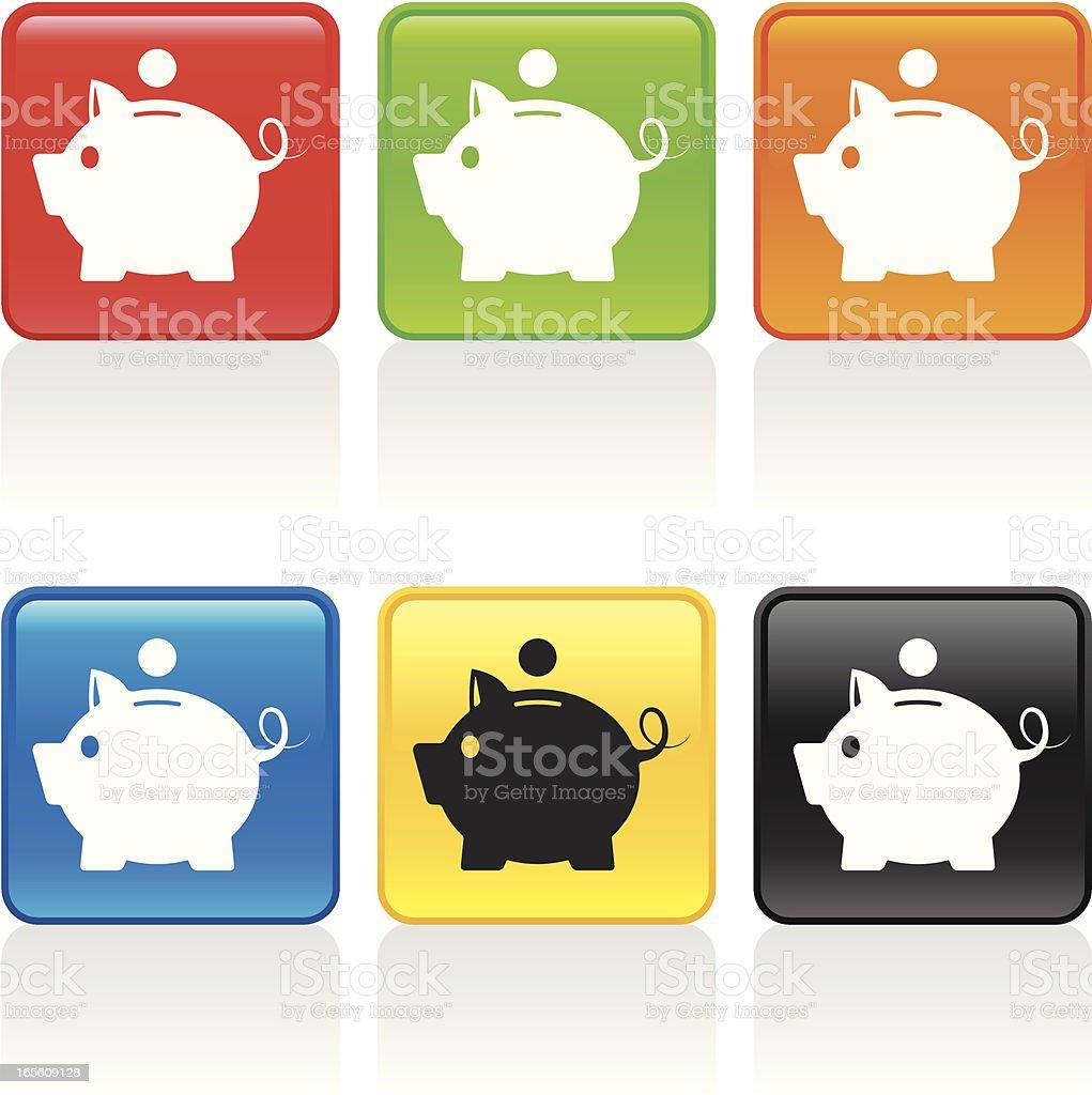 Piggy BankIcon II royalty-free piggy bankicon ii stock vector art & more images of bank account