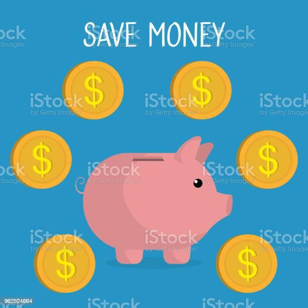 Vetores de Poupança Porquinha Com Moedas e mais imagens de Banco - Edifício financeiro