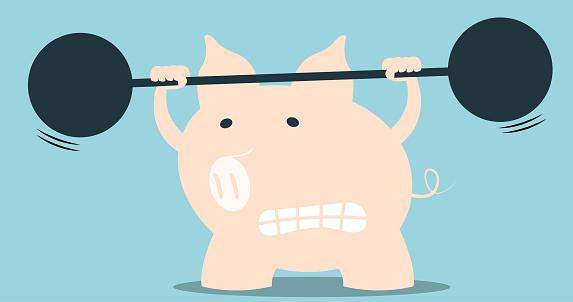 Piggy's weightlifting