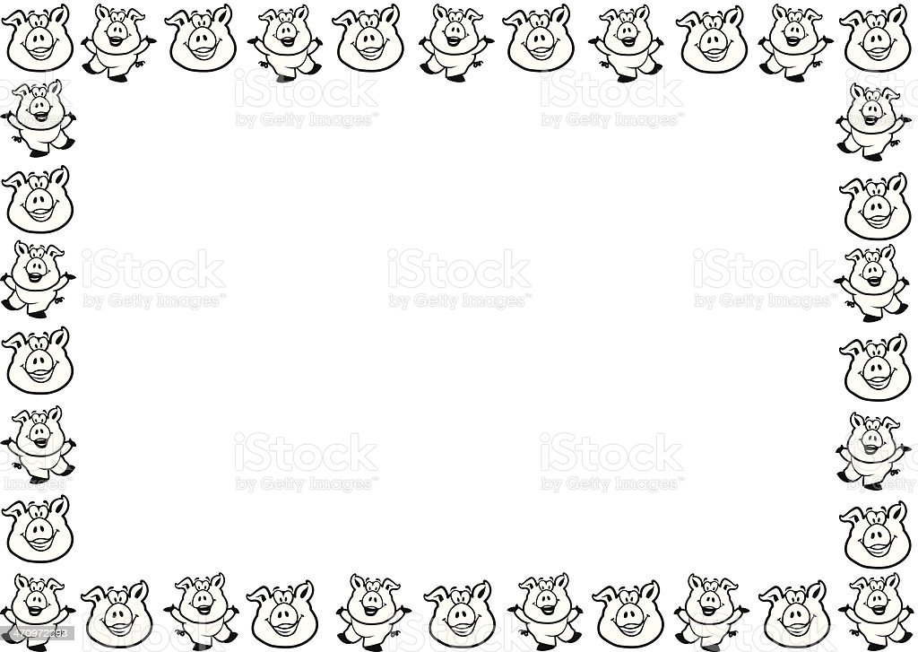 Pigs Frame Stock Vector Art & More Images of Agriculture 470972293 ...