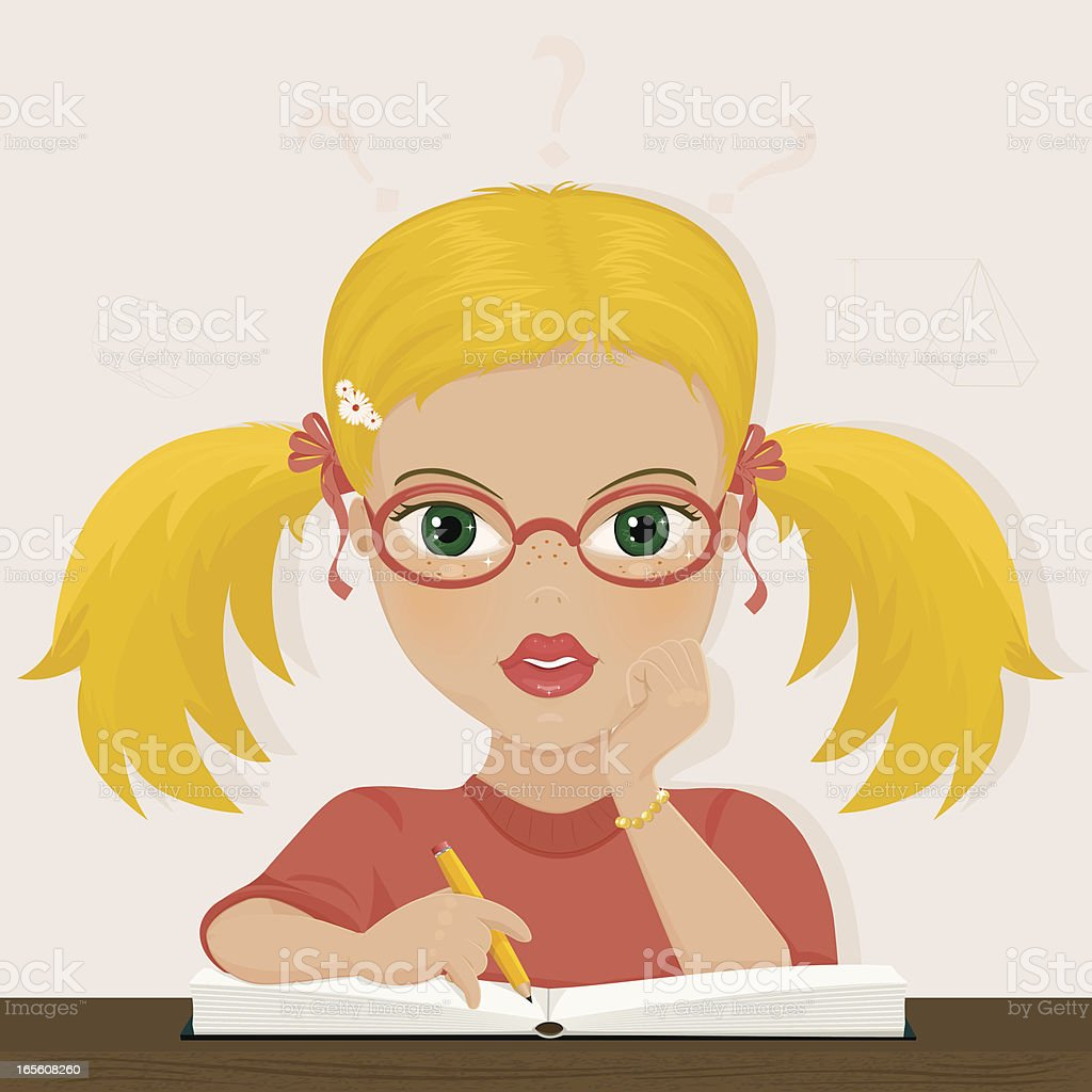 Pigtails in Science Land royalty-free pigtails in science land stock vector art & more images of blond hair