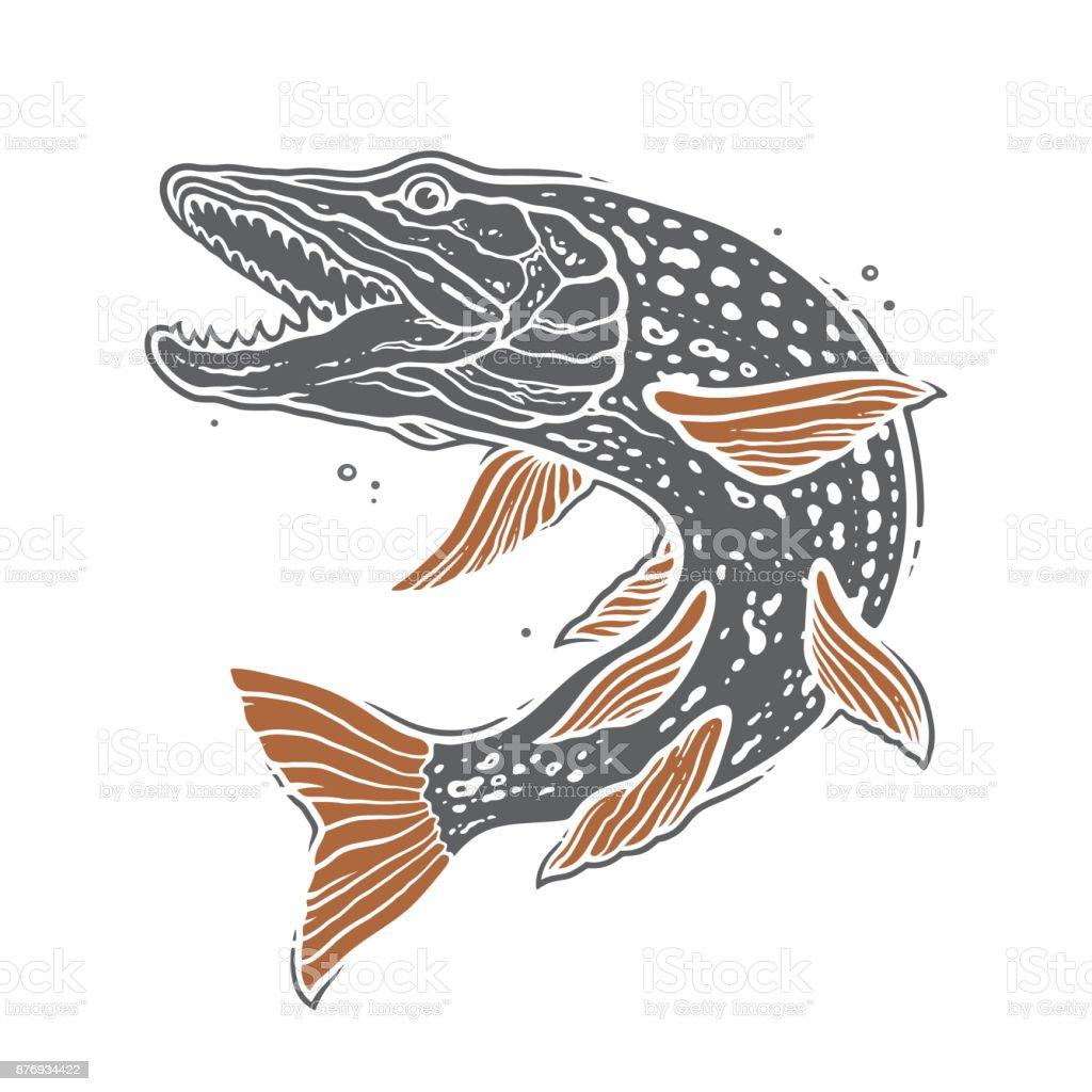 Pike de poissons - Illustration vectorielle