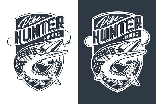 Pike Hunter Vector Emblem Design