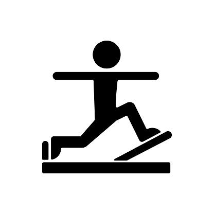 Pilates black glyph icon