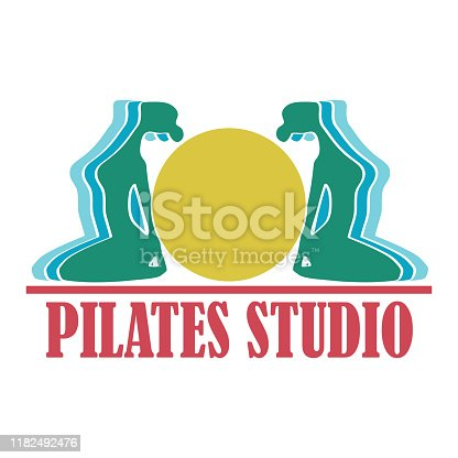 Pilates for pilates school, pilates studio. Vector illustration.