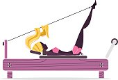 Pilates Girl Silhouette