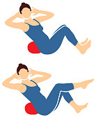 Pilates Silhouette Woman