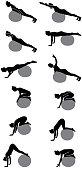 Pilates Silhouette Woman Vector