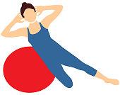 Pilates Symbol Vector Sport