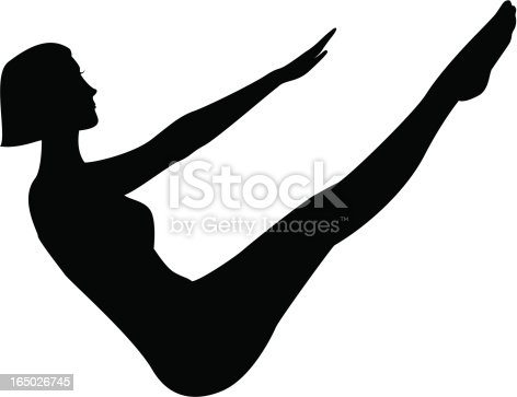 Woman doing a pilates exercise.